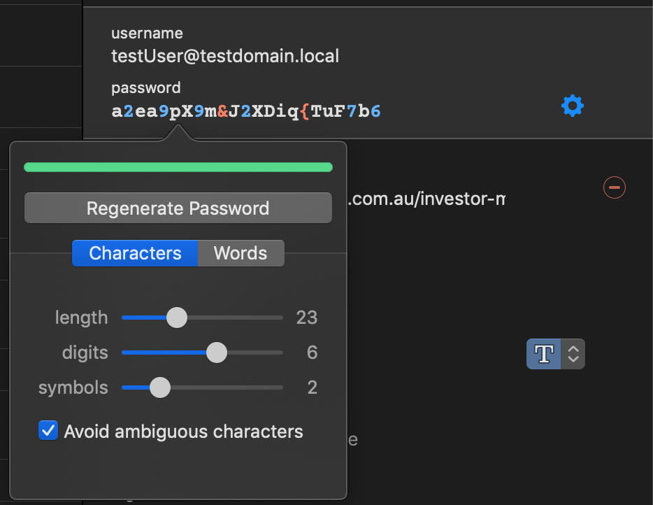 Setting Preferences for Special Characters — 1Password Forum